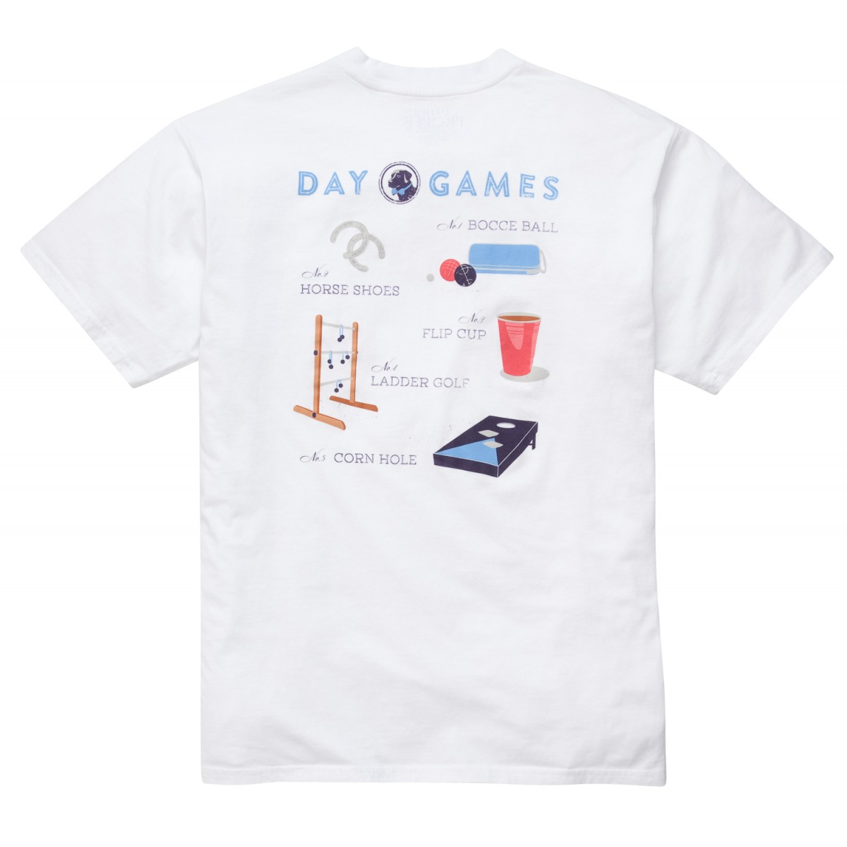 Day Games Tee: White